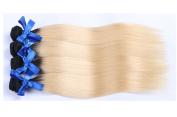 100% Human Hair Straight Weft Brazilian Virgin Hair 4 Bundles Blonde Hair 1B 613 Blonde Virgin Hair Extensions