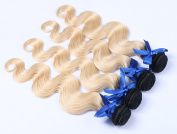 Ombre Hair Weave Body Wave Brazilian Peruvian Indian Virgin Hair Bundles With Lace Top Closure Blonde Hair Extensions