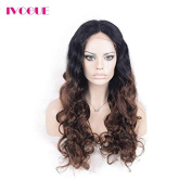 Dark Brown Ombre Lace Front Wig Human Hair Lace Wigs Virgin Malaysian Human Hair Wigs for Black Women Two Tone T1b/4 Ombre