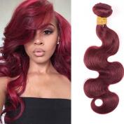 Fashion Lady 99J Red Wine Colour Brazilian Body Wave 3 Bundles a Lot