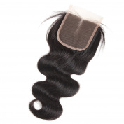 West Kiss Hair 4x 4 middle Part Closure Body Wave Virgin Brazilian Hair 130% Density Lace Closure