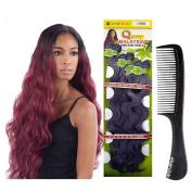 "Que Malaysian Long Body 7 Bundle 22""24""26"" Shake N Go Human Hair Mastermix Weave with eHairClub Comb"
