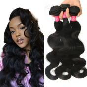 Longjia Hair Malaysian Hair 3 Bundles Malaysian Virgin Body Wave Natural Colour Unprocessed Human Hair Weaves Malaysian Body wave Grade 7a