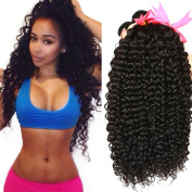Julissa Hair Virgin Brazilian Curly Hair Weave 4 Bundles, 8A Unprocessed Brazilian Virgin Human Hair Weave Extensions , Natural Black Hair Colour, Can be Dyed and Bleached