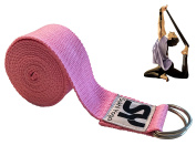 Sukhi Yoga Super Soft Yoga Strap with D-Ring, Perfect for Stretching, Holding Poses, Improving Flexibility and Physical Therapy