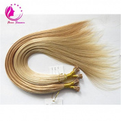 Remy I-tip Human Hair Extensions 100 Strands/pack Prebonded Hair Extensions 41cm