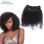 Cici Collection Clip In Human Hair Extensions Brazilian Virgin African American 4B 4C Afro Kinky Curly Clip in Hair Extensions Natural Clip Ins For Black Women