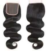 brazilian body wave closure 4x 4 Free Part Lace Closure with Baby Hair Natural Black Virgin Human Hair Closure No Bleached Knots