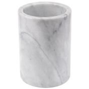 Creative Home Natural Marble Tool Crock Utensil Holder, White