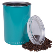 Coffee Storage Canister - Airtight Container Preserves Food Freshness - AirScape Steel - 1890ml - Turquoise