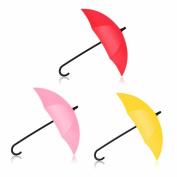 3PCS Colourful Umbrella Shaped Wall Hook Key Holder Organiser Decorative Hanger