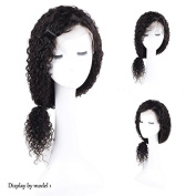 Auspiciouswig Curly Lace Front Human Hair Wigs Brazilian Virgin Human Hair Wigs with Baby Hair for Black Women