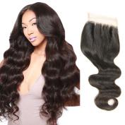 20cm - 46cm Mirra's Mirror 44 Three Part lace closure Brazilian Virgin Human Hair 100% Unprocessed Body Wave Curly Style Natural Colour 100gram/closure
