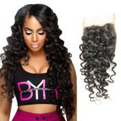 44 closure Deep Wave Brazilian Hair 100% Virgin Human Hair Wefts Deal Lengthes Curly Natural Colour 20cm --46cm 100gram/ Free Part Closure