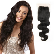 20cm - 46cm Mirra's Mirror 44 Free Part lace closure Brazilian Virgin Human Hair 100% Unprocessed Body Wave Curly Style Natural Colour 100gram/closure