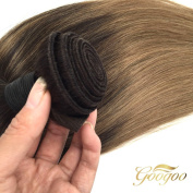 Googoo 100% Brazilian Human Weave Weft Subtle Ombre Brown Human Hair Extensions Silky Straight Virgin Human Hair Bundle 100g Per Bundle 36cm - 60cm