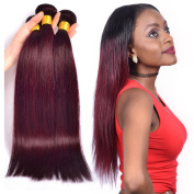 XCCOCO Hair Brazilian Straight Hair Weave Bundles 99J 3pcs/Lot 100% Unprocessed Virgin Remy Human Hair Extensions 16 16 16
