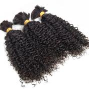 Addcolo 3Pcs/Lot Brazilian Virgin Bulk Hair For Braiding Human Hair Bulk No Attachment Weft Crochet Braids Natural Black 50cm 60cm 60cm