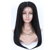 100% Brazilian Full Lace Human Hair Wigs for Black Women With Silk Base For Black Women With Baby Hair Remy Human Hair Wigs Silky Straight African American Party Wigs