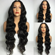 Fashion Long Wavy women wig for Black Womens Hairstyle Black Colour Synthetic Hair Ladies Wigs