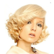 Fashion Short Blonde Curly Wig for Women Cosplay Marilyn Monroe Hair Full Wigs Holloween Party Hairstyle Natural Wig