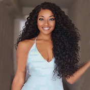 Sexy Long Afro Curly Black Synthetic Wig for Black Women Top Quality Fashion Middle Part Party Wigs for Sexy Lady Synthetic Wigs