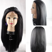 Yaki Kinky Straight Synthetic Hair Lace Front Wigs for Women Coarse Lace Front Wigs Yaki Wigs