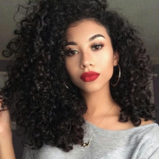 Jolitime Hair Afro Kinky Curly Wigs Heat Resistant Fibre Hair Synthetic Lace Front Wigs For Black Women Curly Hair 50cm