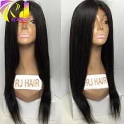 RJ Hair Peruvian 4x 4 Silky Straight Silk Base Wig Virgin Human Hair Straight Silk Base Lace Front Wig Glueless Silk Top Full Lace Wig