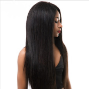 MeiRun 150% Density Silky Straight With Baby Hair Lace Front Human Hair Wigs For Women Bleached Knots Natural Black Colour