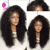 QIRUI HAIR Curly Full Lace Human Hair Wigs-Glueless 130% Density Brazilian Virgin Remy Wigs with Baby Hair For African Americans Natural Colour 50cm