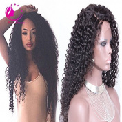 QIRUI HAIR Human Hair U Part Wigs for Black Women Brazilian Kinky Curly Upart Wigs Natural Colour 50cm