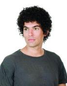 Men hair wig short hair curly head hand-woven breathable Fluffy handsome 100% human hair