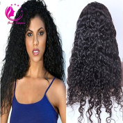 QIRUI HAIR Natural Looking Best Lace Front Human Hair Wigs For Black Women With Baby Hair Glueless Brazilian Deep Wave Remy Hair Full Lace Front Wig African American 130 Density 60cm
