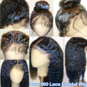 Thriving Hair 8A Pre Plucked Curly 360 Lace Frontal Wig for Black Women Brazilian Virgin Human Hair Wigs Glueless Lace Frontal Wigs with Baby Hair