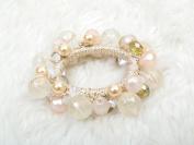 Glam beads ponytail holder elastic ties