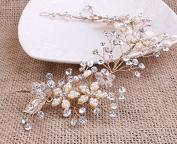 Feyarl Handmade Rhinestone Crystal Wedding Bridal Fashion Headband, Head Vine, Prom Hairbands