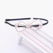 RUNHENG Women Rhinestone Crystal Beaded Butterfly Headband / Hairband