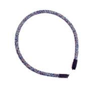 Sherryshine Rhinestone and Crystal Plastic Hairband Hair Hoop Headband for Women,Blue Colour