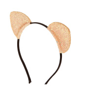 Icing Rose Gold Glitter Cat Ears Headband Girls Rose Gold OneSize