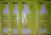 Deva Curl Delight Low-Poo 30ml and One Condition 30ml Packets x3, Travel Sized