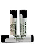 Vermont Lotion Company All Natural Lip Balm Variety Pack, 1 Original, 1 Peppermint & 1 Vanilla