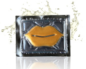 24K Gold Collagen Lip Treatment Mask, Creates Full-Lip Appearance, Reduces Wrinkles and Creases, Hydrates & Softens Skin Above & Below Lip Area, Rejuvenates the Lips
