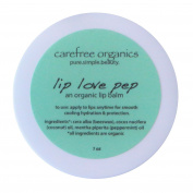 Carefree Organics Lip Love Pep, an organic peppermint lip balm, 30ml