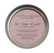 Carefree Organics Lip Love Fruit, an organic lip balm with white grapefruit, 30ml