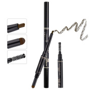 TC Joy 3 in 1 Automatic Eyebrow Pencil with Eyebrow Brush and Powder Natural Long-lasting Waterproof Light Coffee-#2