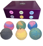 Cosmic Bath Bombs | All Natural, Ultra Lush & Gluten Free | Handmade in the USA with Organic Shea Butter & Organic Sunflower Oil