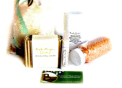 "Mountain Fresh Soaps ""Garden Goodness"" GIFT SET ~ Artisan, Organic, & All-Natural Soap, Lotion, Lip Balm, & Bath Salt"