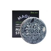 APRILSKIN MAGIC STONE 100% Natural Face Whitening Cleansing Original Soap,Black Soap,,All Skin Types