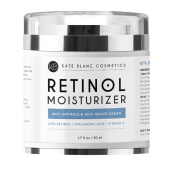 Retinol Moisturiser Cream for Face, Eye Area & Oily Skin (50ml) by Kate Blanc. Includes 2.5% Active Retinol, Hyaluronic Acid & Vitamin E & B5. Anti-ageing, Reduce Fine Lines, Wrinkles, Dark, Sun Spots
